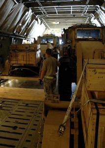 Industrial Excavators inside of a C-5 Galaxy